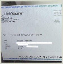 cheque linkshare